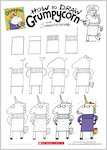 Grumpycorn activity sheet - how to draw Grumpycorn (1 page)