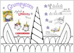 Grumpycorn activity sheet - colour in and make your own unicorn horn (1 page)