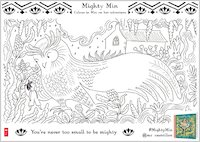 Mighty Min activity sheet - colour in Min and Owl