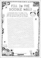Tom Gates Spectacular School Trip (really...) activity sheet - fill in the doodle wall