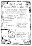 Tom Gates Spectacular School Trip (really...) activity sheet - bake some brilliant biscuits (1 page)