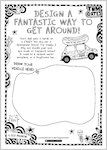 Tom Gates Spectacular School Trip (really...) activity sheet - design a fantastic way to get around (1 page)