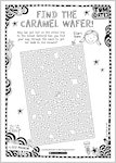 Tom Gates Spectacular School Trip (really...) activity sheet - find the caramel wafer (1 page)
