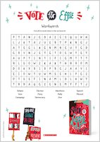Vote for Effie wordsearch activity sheet