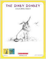 Dinky donkey downloadable activities colouring1 1918112