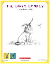 Dinky donkey downloadable activities colouring1 1918115