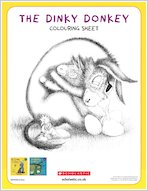 Dinky donkey downloadable activities colouring2 1918120