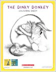 The Dinky Donkey activity sheet - colour in the Wonky Donkey and the Dinky Donkey (1 page)