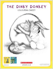 Dinky donkey downloadable activities colouring2 1918123