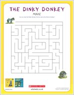 Dinky donkey downloadable activities maze 1918128