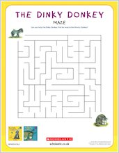 Dinky donkey downloadable activities maze 1918131