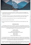 Discussion guide and activities for Hold Back the Tide (1 page)
