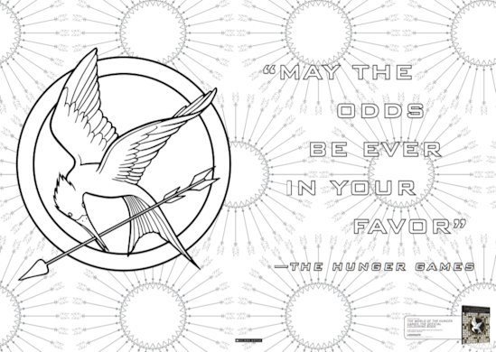 Hunger Games Colouring Book Sample 1