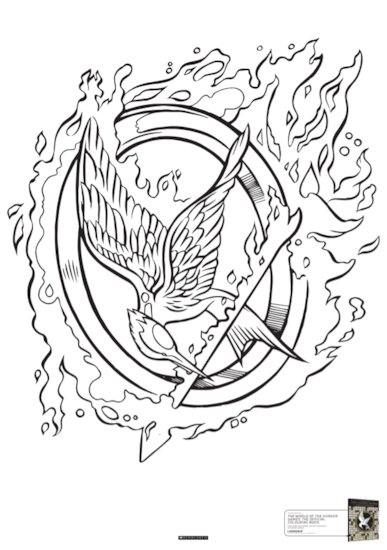 Hunger Games Colouring Book Sample 4