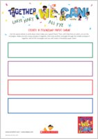Together We Can - free activity sheets