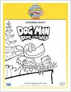 Dog Man Brawl of the Wild Colouring Sheet