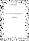 Quick Practice – Solving Problems – Answers