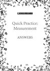 Quick Practice – Measurement – Answers