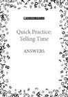 Quick Practice answers – Telling the Time pack
