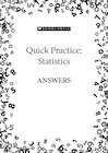 Quick Practice answers – Statistics