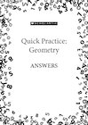 Quick practice answers – Geometry
