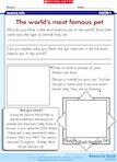 The world's most famous pet (1 page)