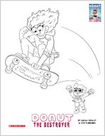 Donut colouring pages 1956203
