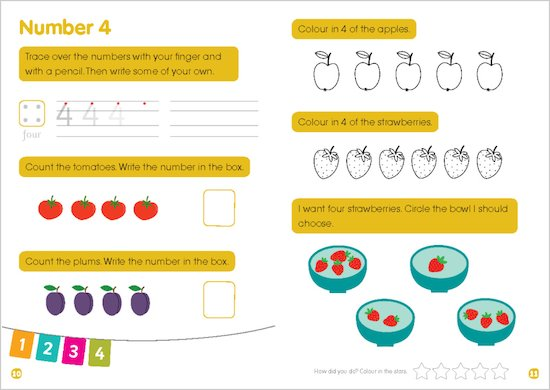 First Learning Early Number - Sample Page