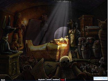 Through the keyhole – Pharaoh's tomb