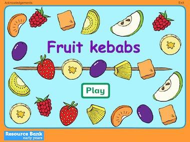Fruit kebabs game