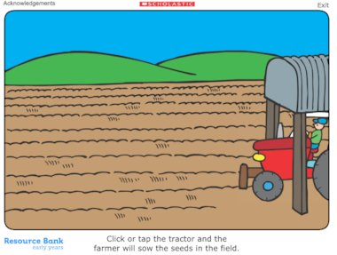 The farmer's field