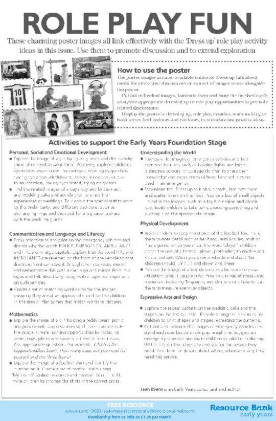 Role play fun poster notes