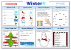 Winter Literacy Activity Mat