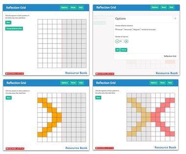 Reflection Grid - interactive maths tool