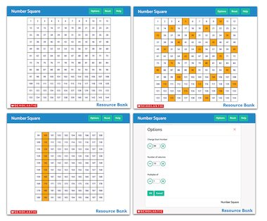 Number Square - interactive maths tool
