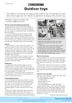Outdoor toys - activities (1 page)