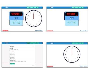 Clock - interactive maths tool