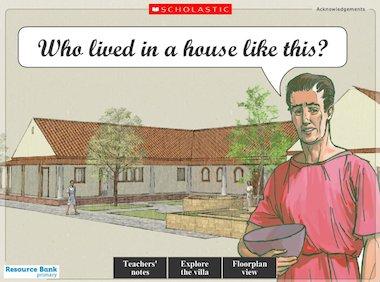 Tour of a Roman villa - interactive resource