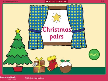 Christmas pairs game