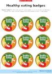 Healthy eating - reward badges (1 page)