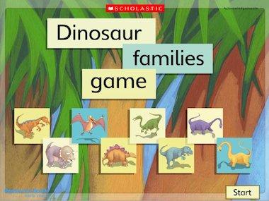Imaginary worlds: Dinosaur families - interactive game