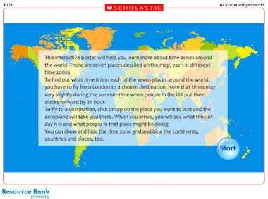 Time zones around the world - interactive resource