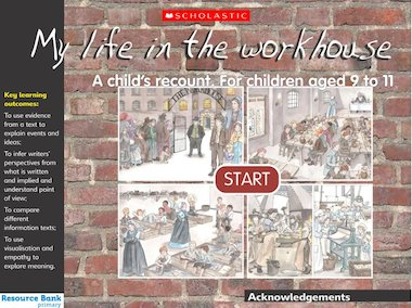 Life in the workhouse - interactive resource
