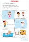 Splash time! Swimming pool activity sheet