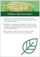 Scholastic Summer Reading Trail Challenge 1 activities