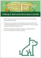 Scholastic Summer Reading Trail Challenge 4 activities