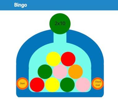 Bingo – interactive maths tool
