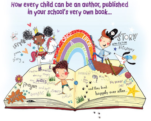 Now every child can be an author, published in your school's very own book...